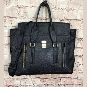 Philip Lim 3.1 Large Pashli Leather Black Satchel